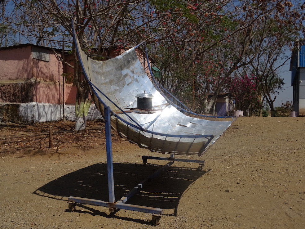 solar cooker at Vigyan Ashram, February, 2017. Photo: Cindy Kohtala