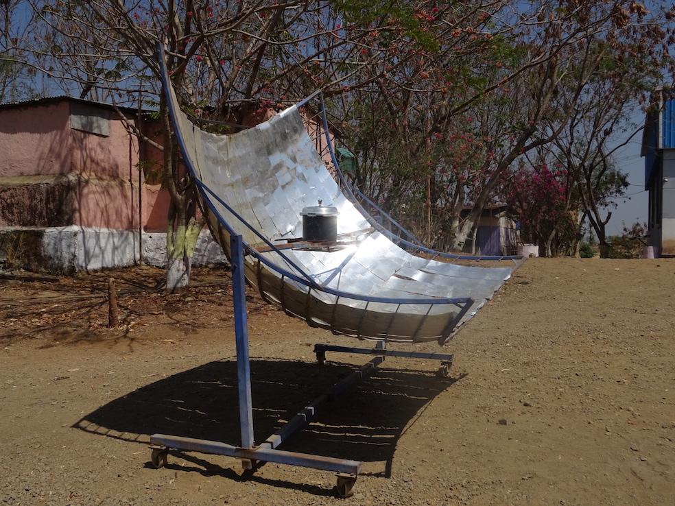 solar cooker at Vigyan Ashram, February, 2017. Photo: Cindy Kohtala