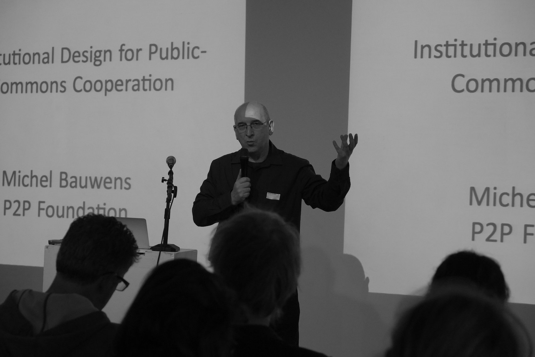 Keynote by Michel Bauwens, P2P Foundation. Photo: Cindy Kohtala.