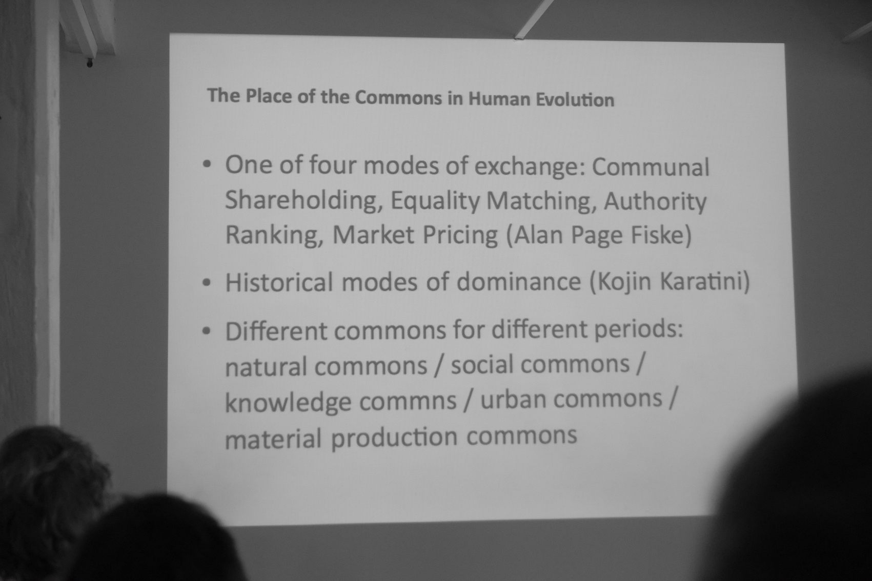 slide: The Place of the Commons in Human Evolution
