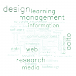 Word cloud from Aalto People topics of interest