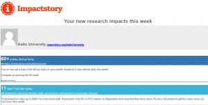 ImpactStory email digest 1/3