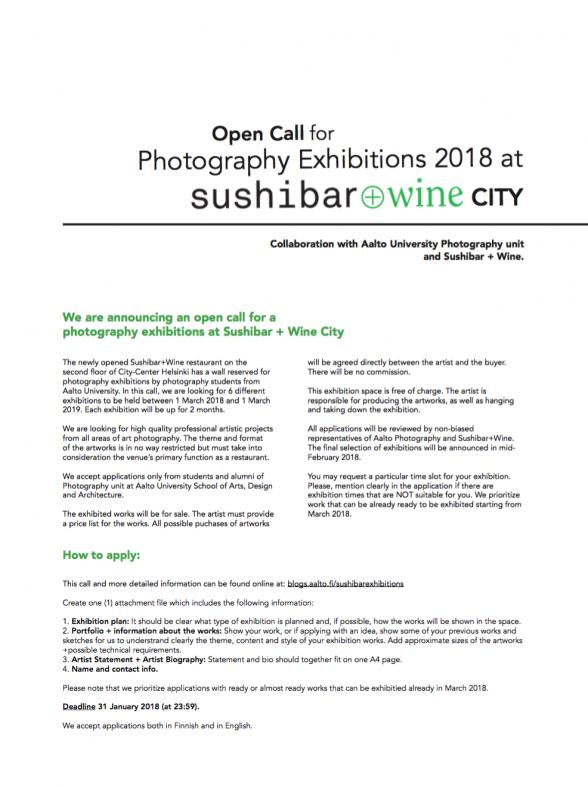 Sushibar-Call-Poster-2018-EsaN